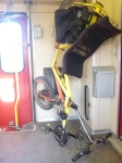 Stand for a recumbent in the NS intercity from Zwolle to Roosendaal