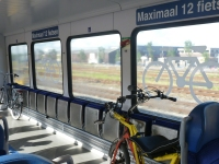 Space for 12 bicycles in Arriva train